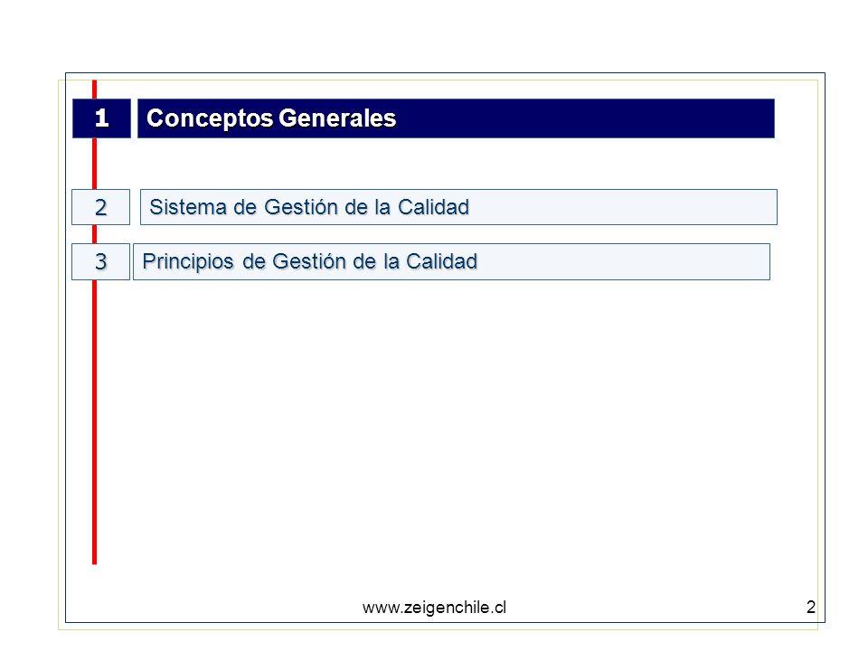 www.zeigenchile.cl3 Conceptos Generales ¿QUE ES CALIDAD?