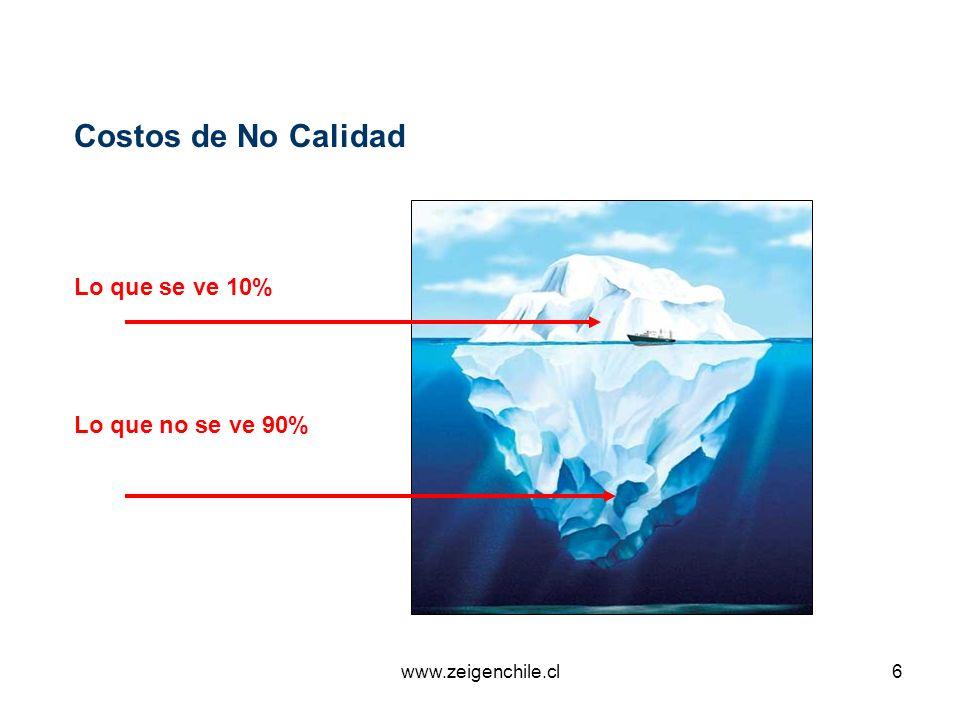 www.zeigenchile.cl6 Lo que se ve 10% Lo que no se ve 90% Costos de No Calidad