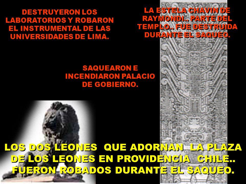 DESTRUYERON LOS LABORATORIOS Y ROBARON EL INSTRUMENTAL DE LAS UNIVERSIDADES DE LIMA.
