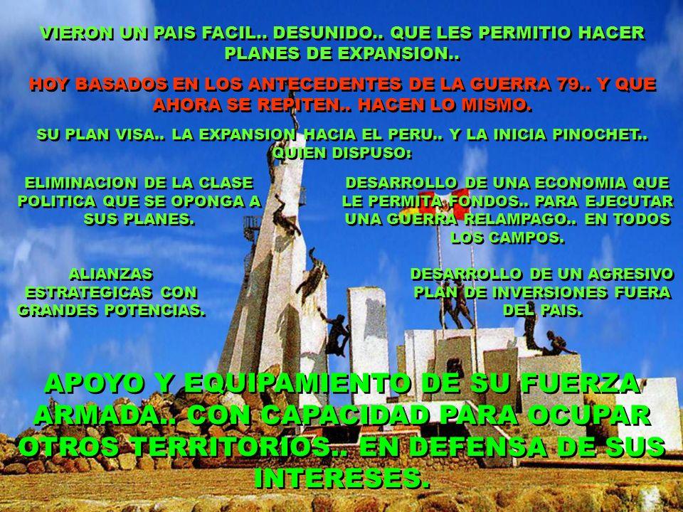 VIERON UN PAIS FACIL..DESUNIDO.. QUE LES PERMITIO HACER PLANES DE EXPANSION..