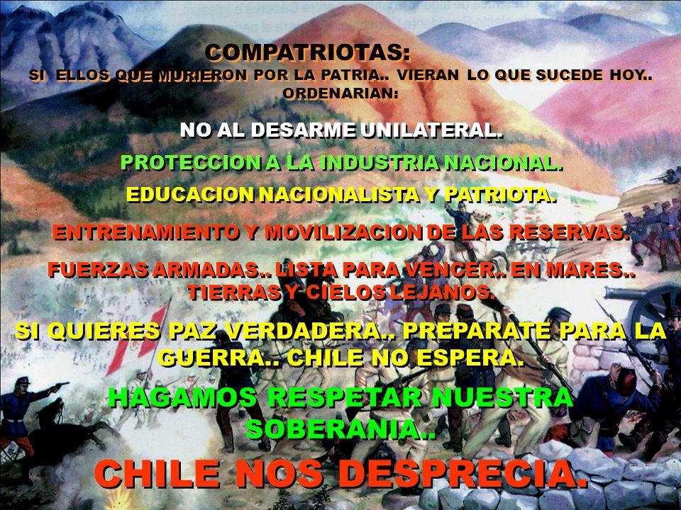 VIERON UN PAIS FACIL.. DESUNIDO.. QUE LES PERMITIO HACER PLANES DE EXPANSION.. HOY BASADOS EN LOS ANTECEDENTES DE LA GUERRA 79.. Y QUE AHORA SE REPITE