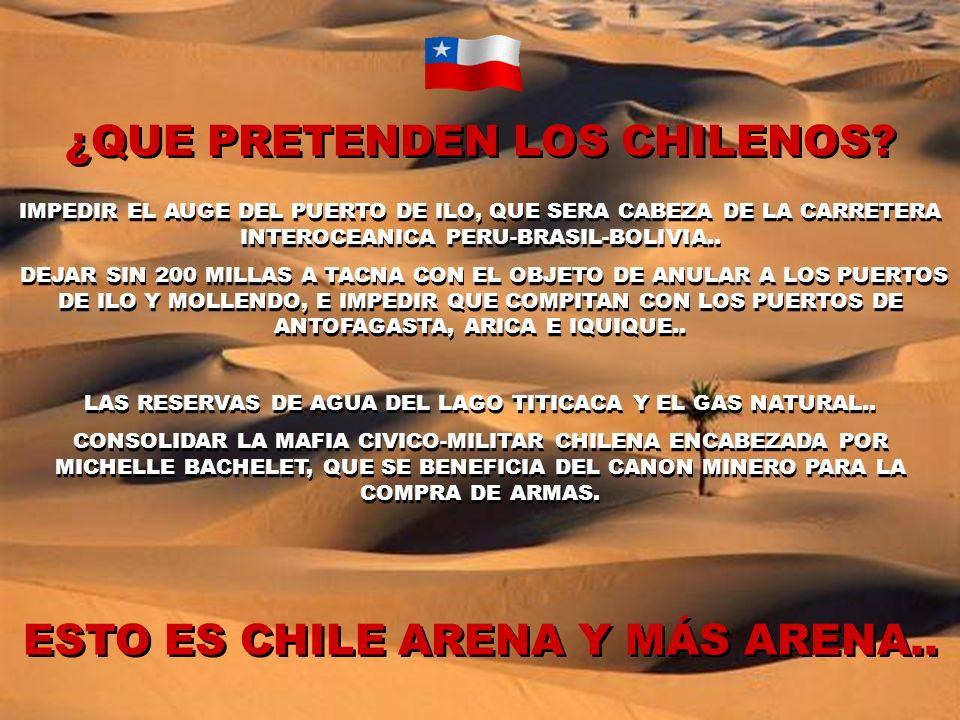 ¿QUE PRETENDEN LOS CHILENOS.