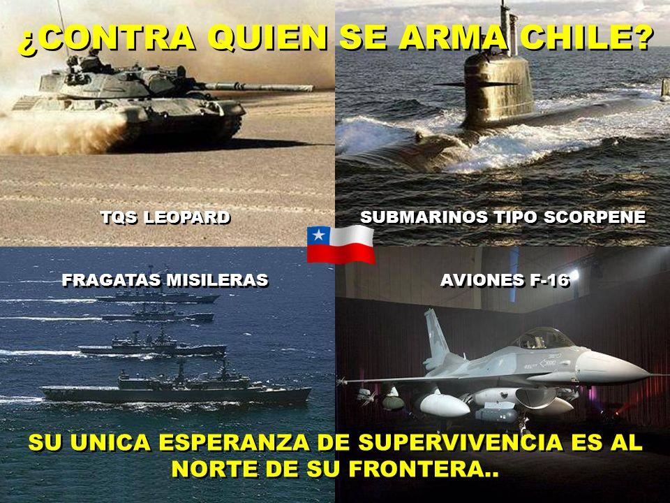 ¿CONTRA QUIEN SE ARMA CHILE.SU UNICA ESPERANZA DE SUPERVIVENCIA ES AL NORTE DE SU FRONTERA..