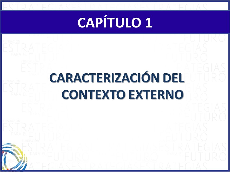 CHAPTER 1 CAPÍTULO 1 CARACTERIZACIÓN DEL CONTEXTO EXTERNO