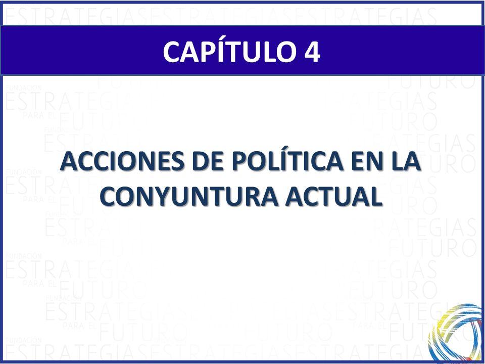 CAPÍTULO 4 ACCIONES DE POLÍTICA EN LA CONYUNTURA ACTUAL