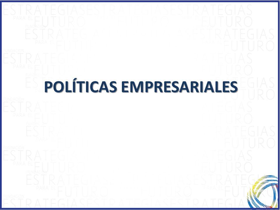 POLÍTICAS EMPRESARIALES POLÍTICAS EMPRESARIALES