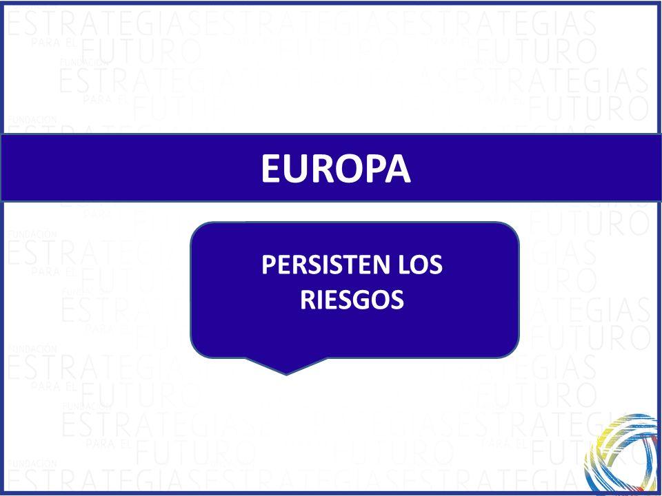 EUROPA PERSISTEN LOS RIESGOS