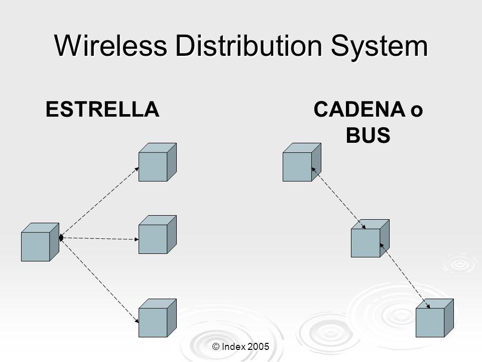 © Index 2005 Wireless Distribution System ESTRELLACADENA o BUS