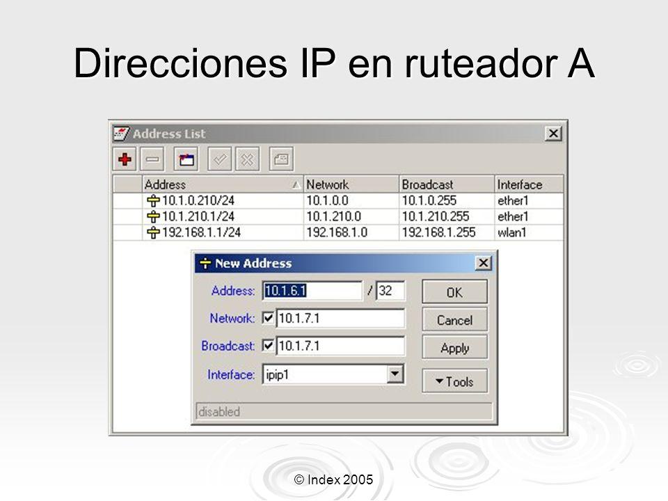 © Index 2005 Túneles EoIP Protocolo propietario MikroTik.