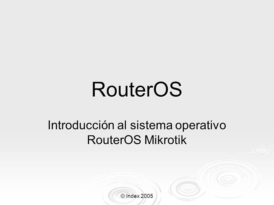 © Index 2005 Que es el RouterOS.