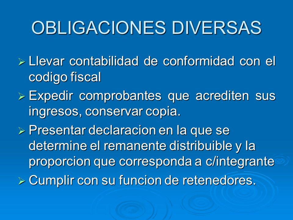 REGIMEN SIMPLIFICADO PARA SOCIEDADES COOPERATIVAS DE PRODUCCION PARA SOCIEDADES COOPERATIVAS DE PRODUCCION