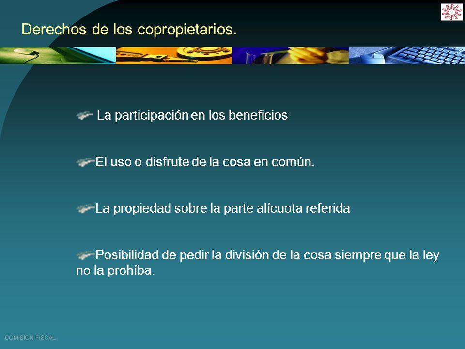 Obligaciones de los copropietarios.