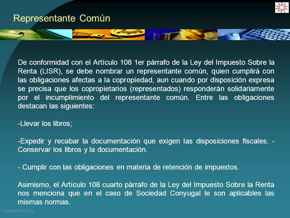 Calculo de ISR en régimen general de actividades Empresariales en el caso de Copropiedad.