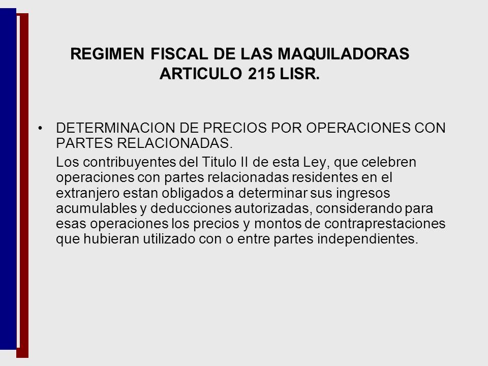 DETERMINACION DE PRECIOS POR OPERACIONES CON PARTES RELACIONADAS. Los contribuyentes del Titulo II de esta Ley, que celebren operaciones con partes re