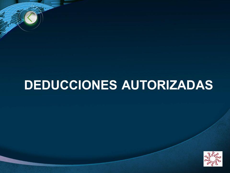 LOGO www.themegallery.com DEDUCCIONES AUTORIZADAS