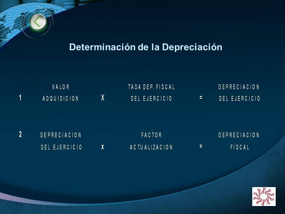 LOGO www.themegallery.com Determinación de la Depreciación