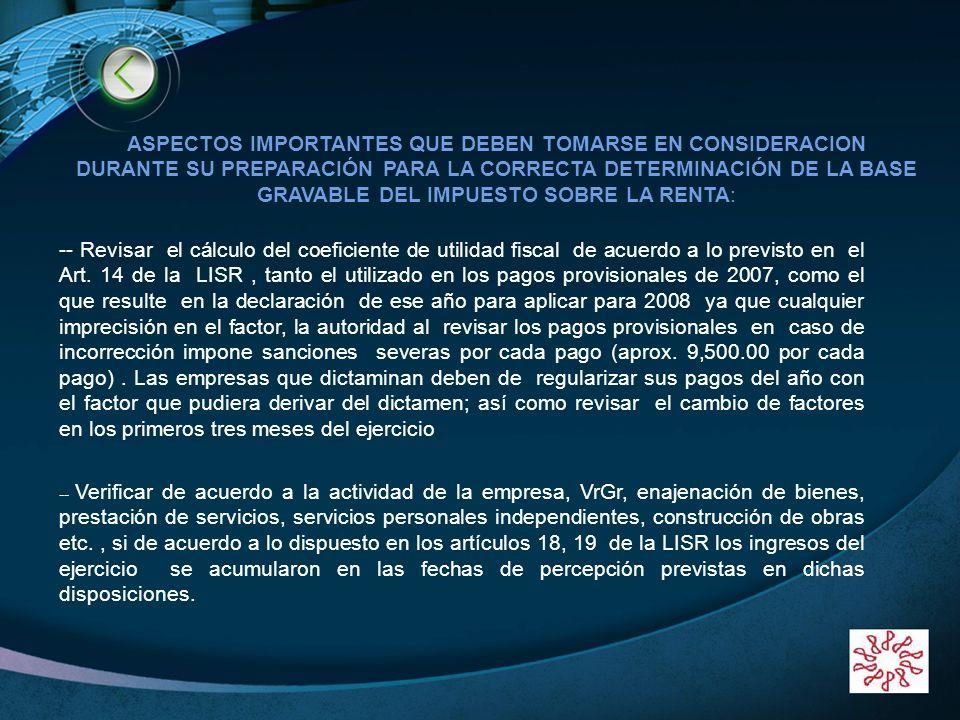 LOGO www.themegallery.com ASPECTOS IMPORTANTES QUE DEBEN TOMARSE EN CONSIDERACION DURANTE SU PREPARACIÓN PARA LA CORRECTA DETERMINACIÓN DE LA BASE GRA