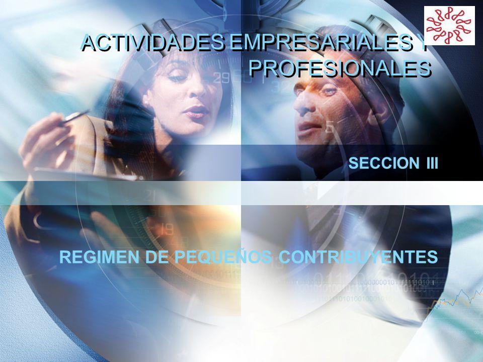 LOGO ACTIVIDADES EMPRESARIALES Y PROFESIONALES SECCION III REGIMEN DE PEQUEÑOS CONTRIBUYENTES