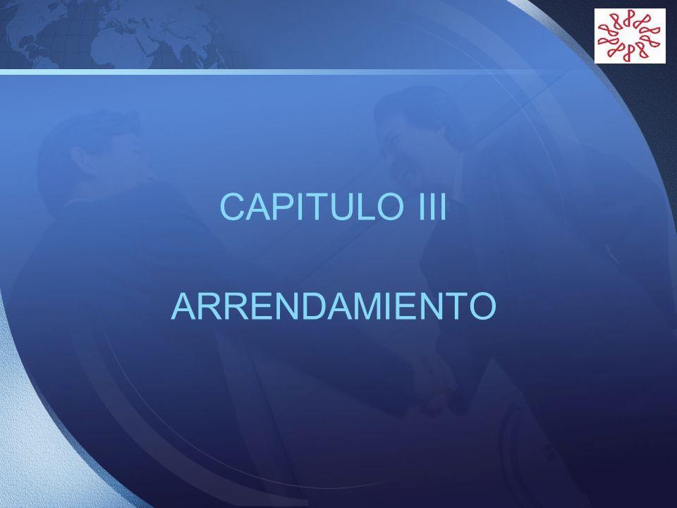 LOGO CAPITULO III ARRENDAMIENTO
