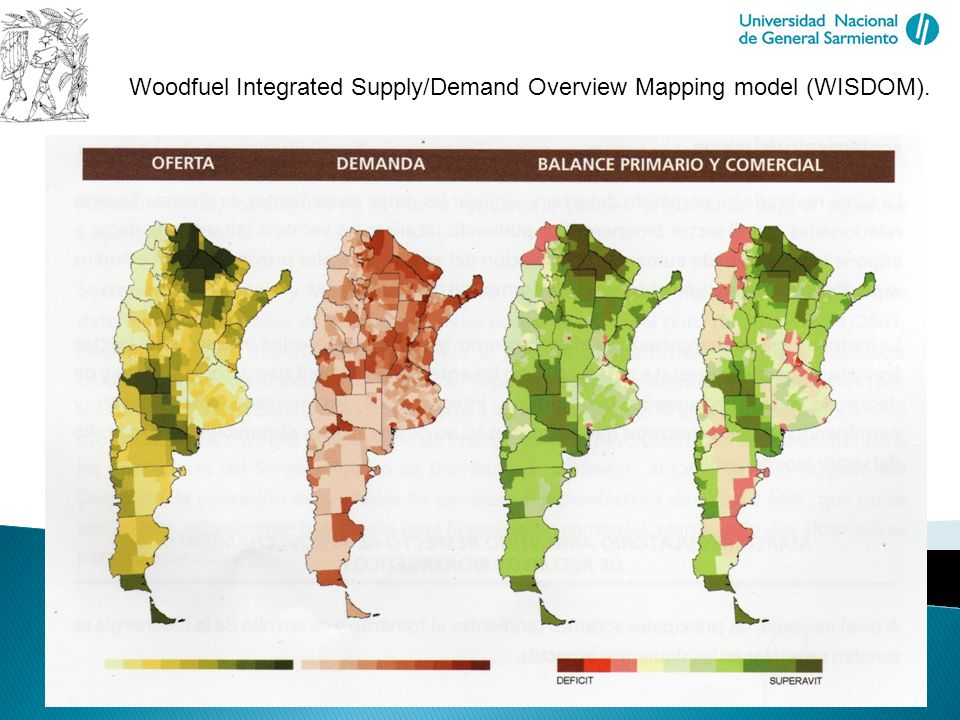 Biomass in Future Landscapes Sustainable Use of Biomass and Spatial Development Woodfuel Integrated Supply/Demand Overview Mapping model (WISDOM).