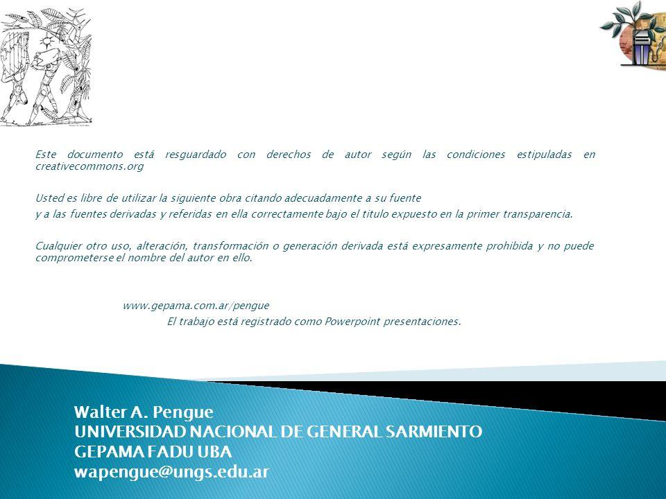 Este documento está resguardado con derechos de autor según las condiciones estipuladas en creativecommons.org Usted es libre de utilizar la siguiente