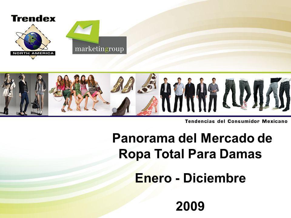 Trendex Mexico M-A409-OVV-01p 22 Categorías Mercado Total Edades 15 - 2425 - 3940 - 59 60 y Más Ropa de Vestir6.1%4.1%5.2%9.1%14.0% Pantalones 25.8%28.9%28.1%20.2%12.6% Tops 30.0%31.9%29.1%28.2%29.0% Ropa Deportiva3.3%3.4%3.2%3.1%2.6% Ropa Interior21.3%18.9%21.3%24.0%27.1% Medias3.5%1.2%3.0%7.3%7.2% Calcetería6.7%7.6%6.9%5.1%5.4% Chamarras/Impermeables/Abrigos2.3%2.8%2.2%1.8% Otros1.0%1.2%1.0% 0.2% Total 100% Enero - Diciembre 2009 Unidades MERCADO TOTAL MEXICANO DE ROPA PARA DAMAS Mercado Total