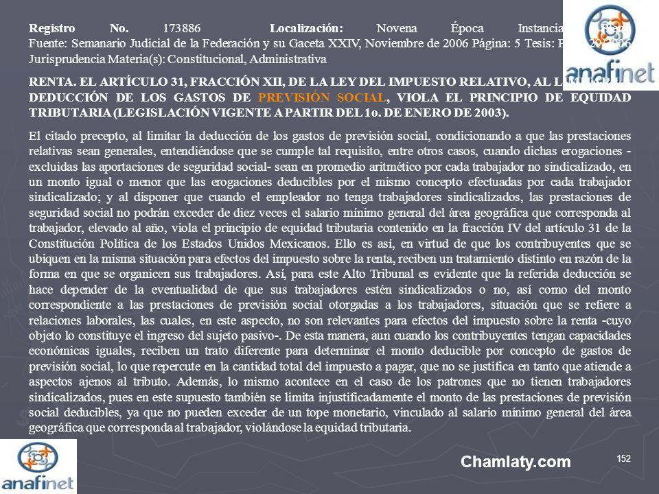 152 Chamlaty.com Registro No. 173886 Localización: Novena Época Instancia: Pleno Fuente: Semanario Judicial de la Federación y su Gaceta XXIV, Noviemb