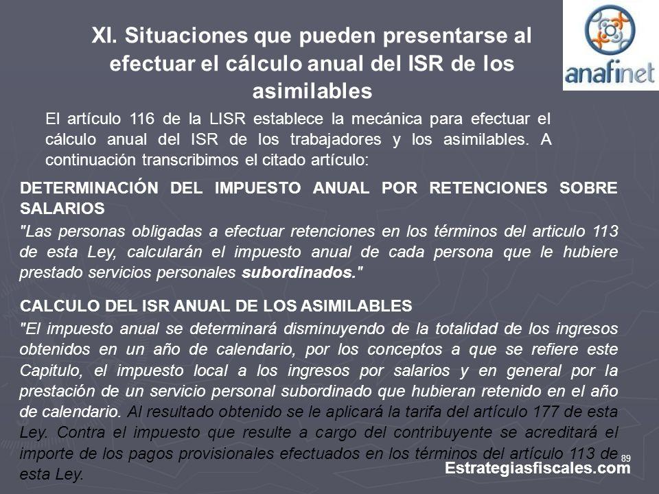 89 Estrategiasfiscales.com DETERMINACIÓN DEL IMPUESTO ANUAL POR RETENCIONES SOBRE SALARIOS