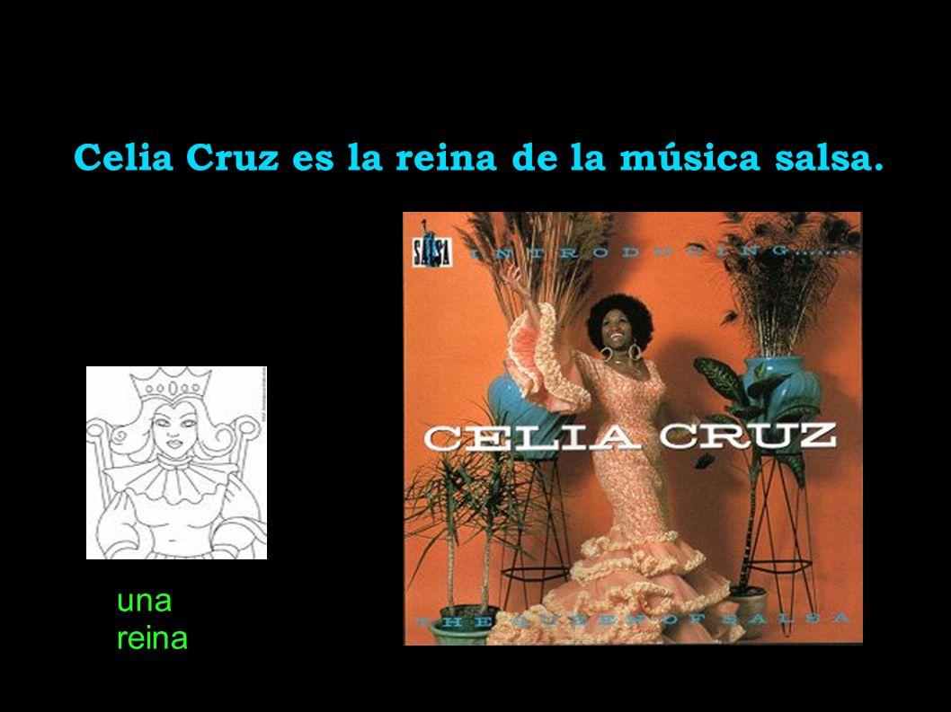 Celia Cruz es la reina de la música salsa. una reina