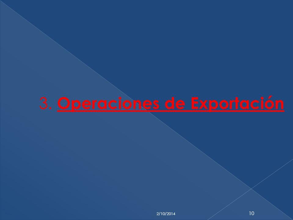 3. Operaciones de Exportación 2/10/2014 10