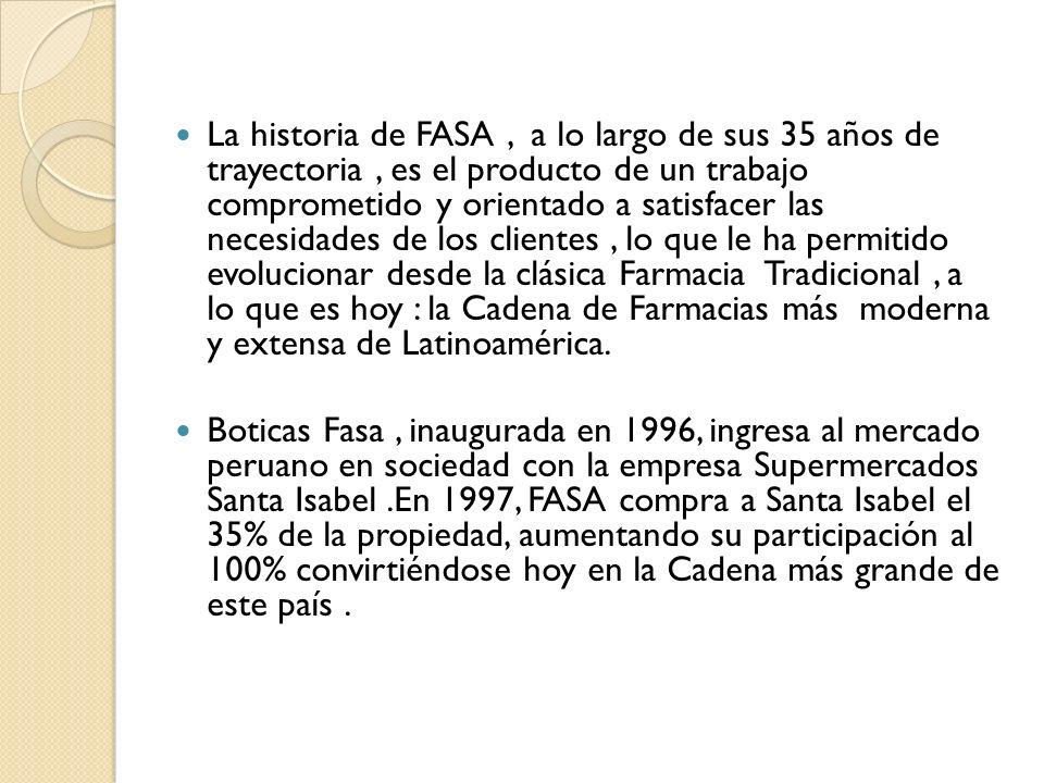 La historia de FASA, a lo largo de sus 35 años de trayectoria, es el producto de un trabajo comprometido y orientado a satisfacer las necesidades de l