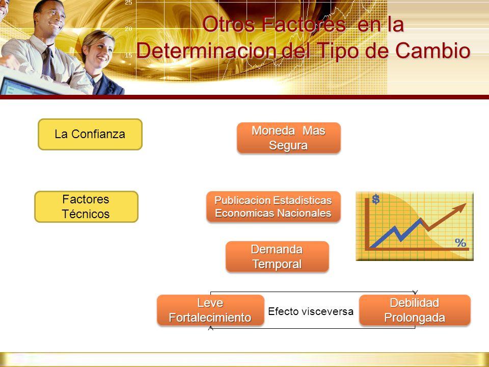 Otros Factores en la Determinacion del Tipo de Cambio La Confianza Factores Técnicos Demanda Temporal Publicacion Estadisticas Economicas Nacionales L