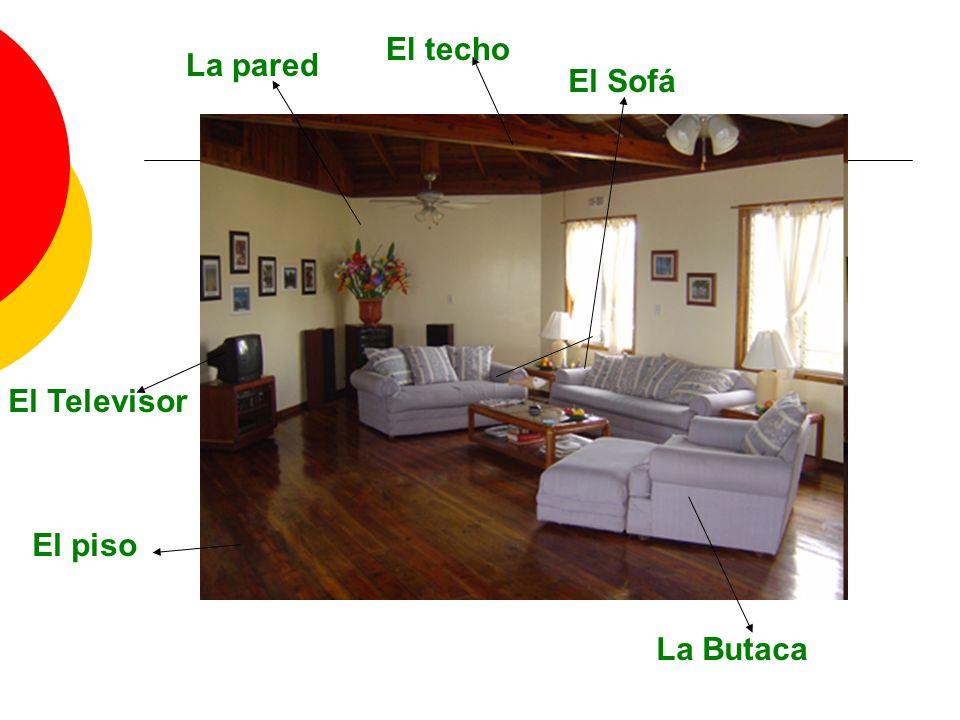 El Sofá La Butaca El Televisor El techo La pared El piso