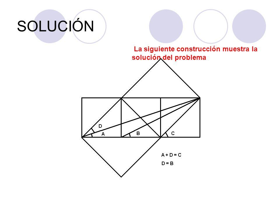 SOLUCIÓN La siguiente construcción muestra la solución del problema