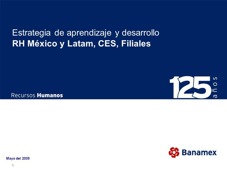 1 Estrategia de aprendizaje y desarrollo RH México y Latam, CES, Filiales Mayo del 2009