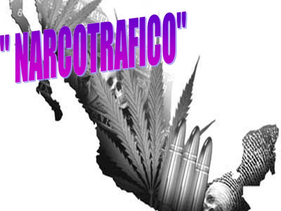Es una industria ilegal mundial que consiste en el cultivo,industria ilegal elaboración, distribución y venta de drogas ilegales.drogas ilegales Mientras que ciertas drogas son de venta y posesión legal (ciertos fármacos que la contienen, tabaco, alcohol, etc), en la mayoría de las jurisdicciones la ley prohíbe la venta e incluso el ofrecimiento o cesión de algunos tipos de drogas.