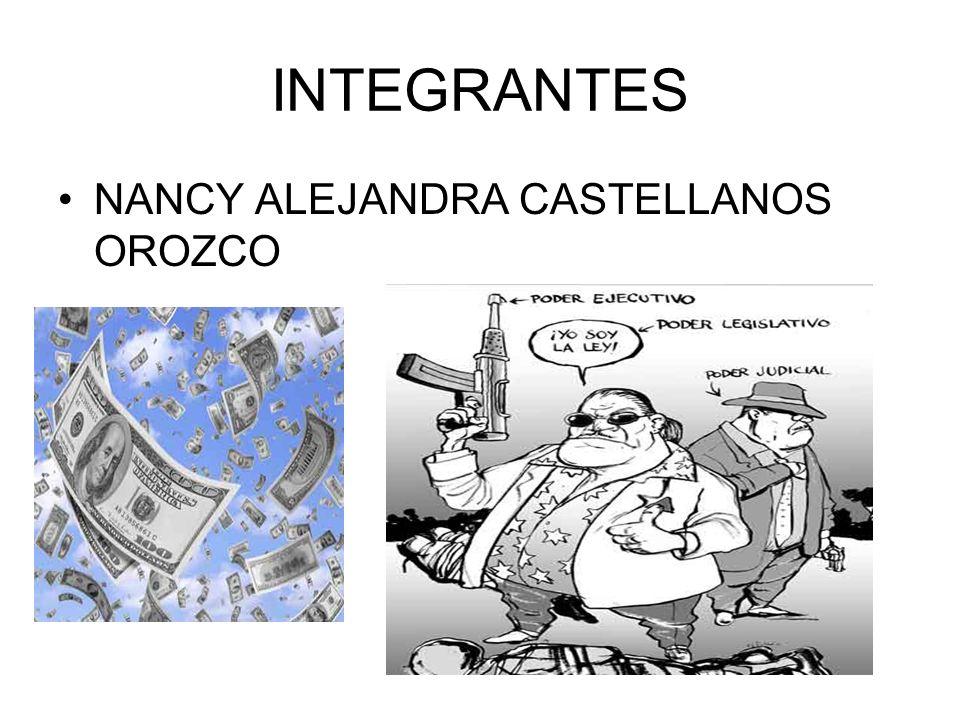 INTEGRANTES NANCY ALEJANDRA CASTELLANOS OROZCO