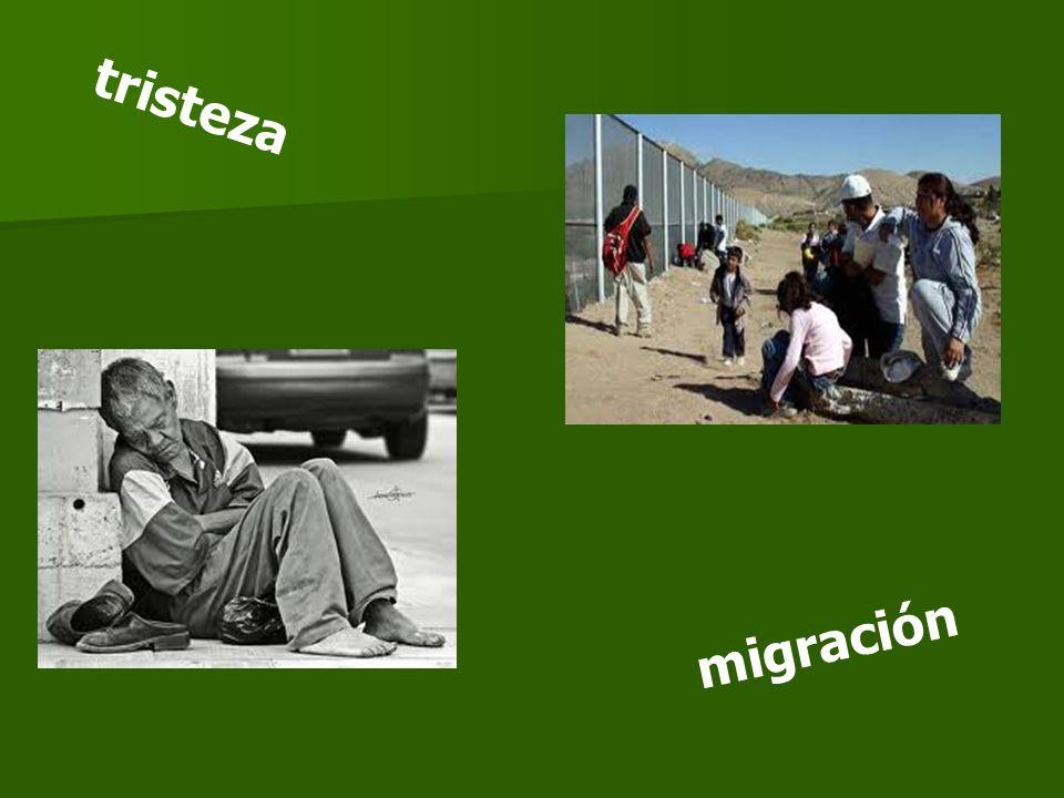 tristeza migración