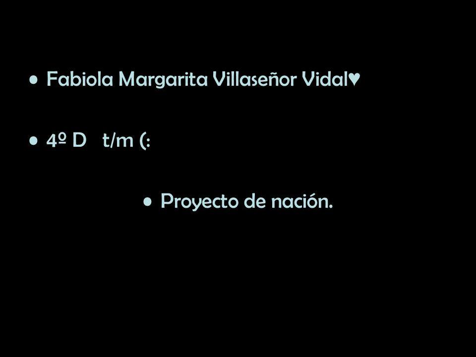 Fabiola Margarita Villaseñor Vidal 4º D t/m (: Proyecto de nación.