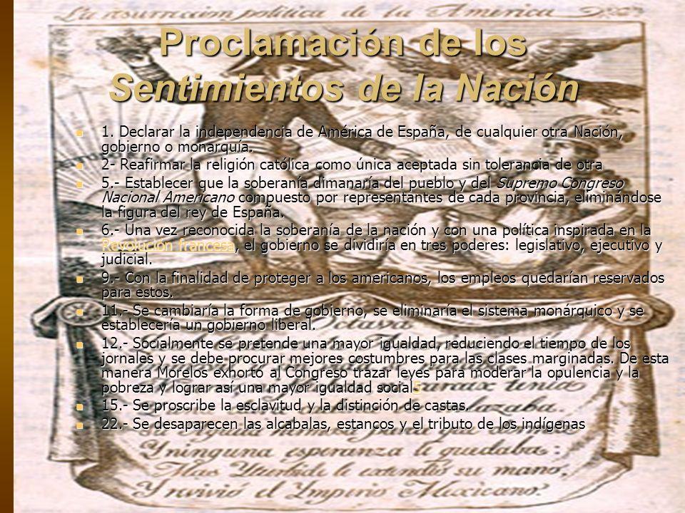 Proclamación de los Sentimientos de la Nación 1.