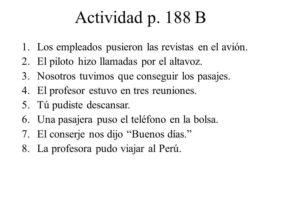 Actividad, page 188 C.