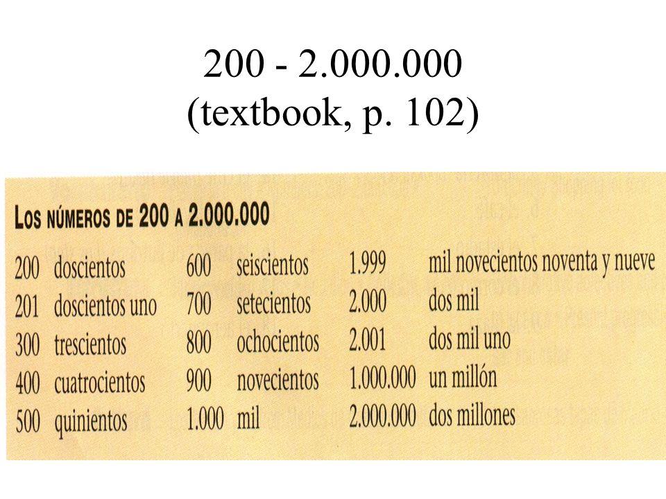 200 - 2.000.000 (textbook, p. 102)