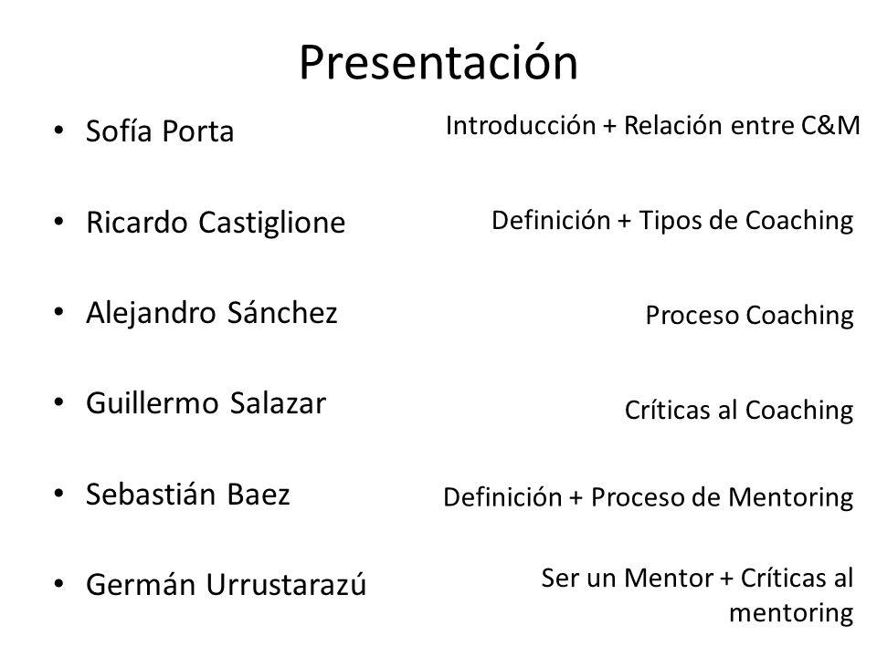 Presentación Sofía Porta Ricardo Castiglione Alejandro Sánchez Guillermo Salazar Sebastián Baez Germán Urrustarazú Introducción + Relación entre C&M S