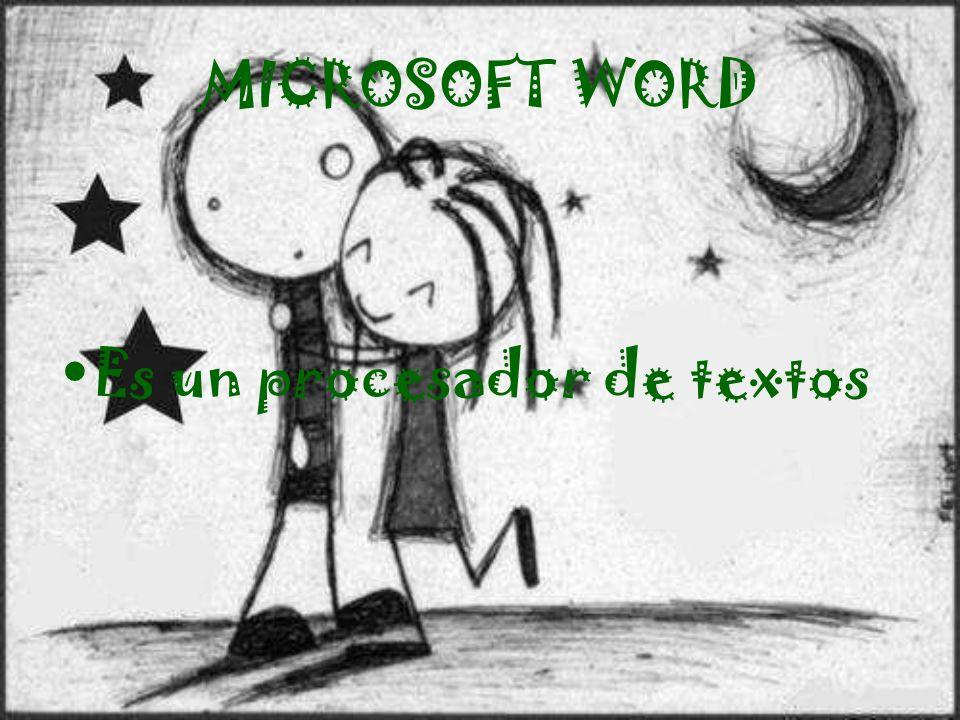 MICROSOFT WORD Es un procesador de textos