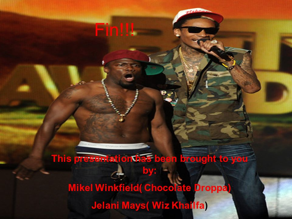 Fin!!! This presentation has been brought to you by: Mikel Winkfield( Chocolate Droppa) Jelani Mays( Wiz Khailfa)
