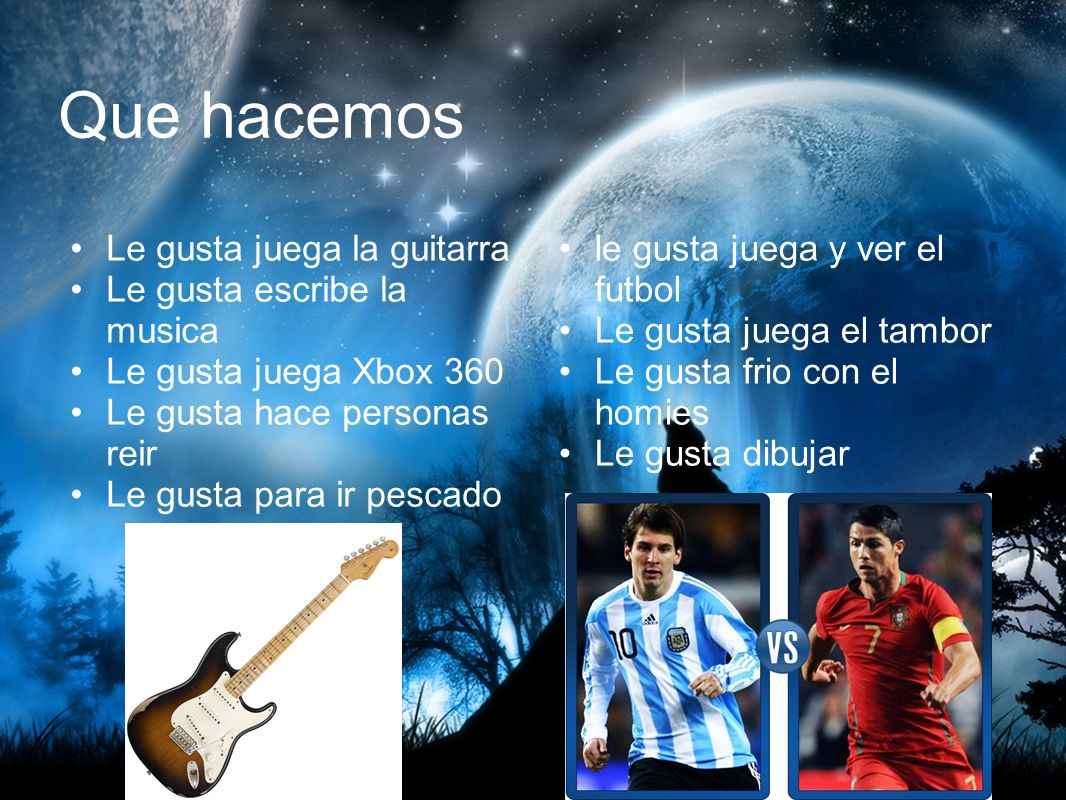 Actividades Extra El juega en la banda Aprender a juega la bass guitarra Aprender a juega la piano El juega en la banda El en el futbol equipo El en equipo estudiante liderazgo
