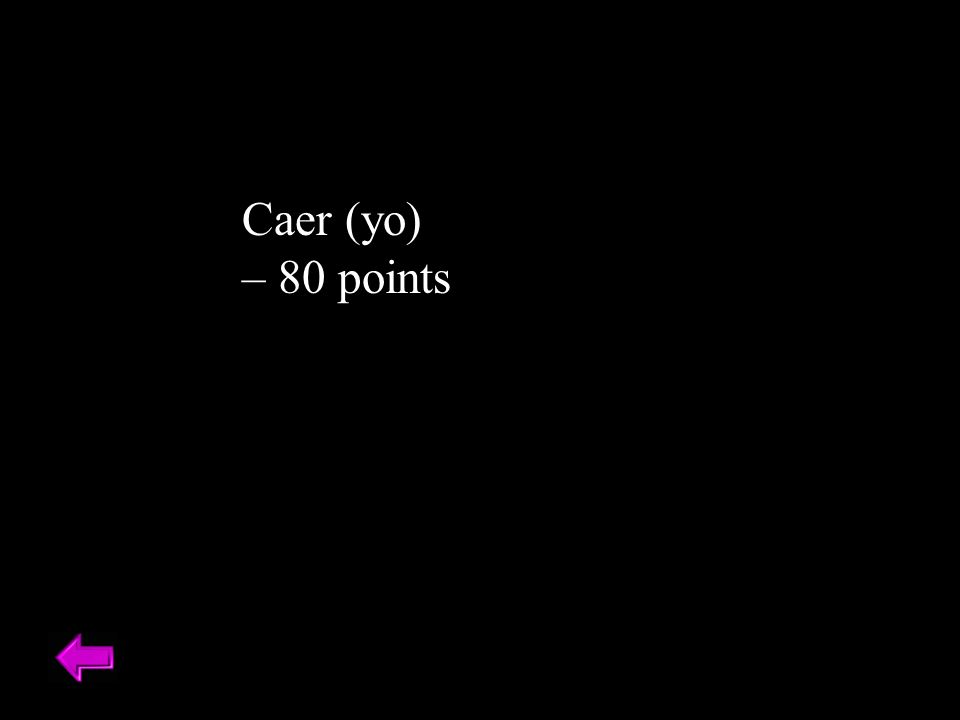Caer (yo) – 80 points
