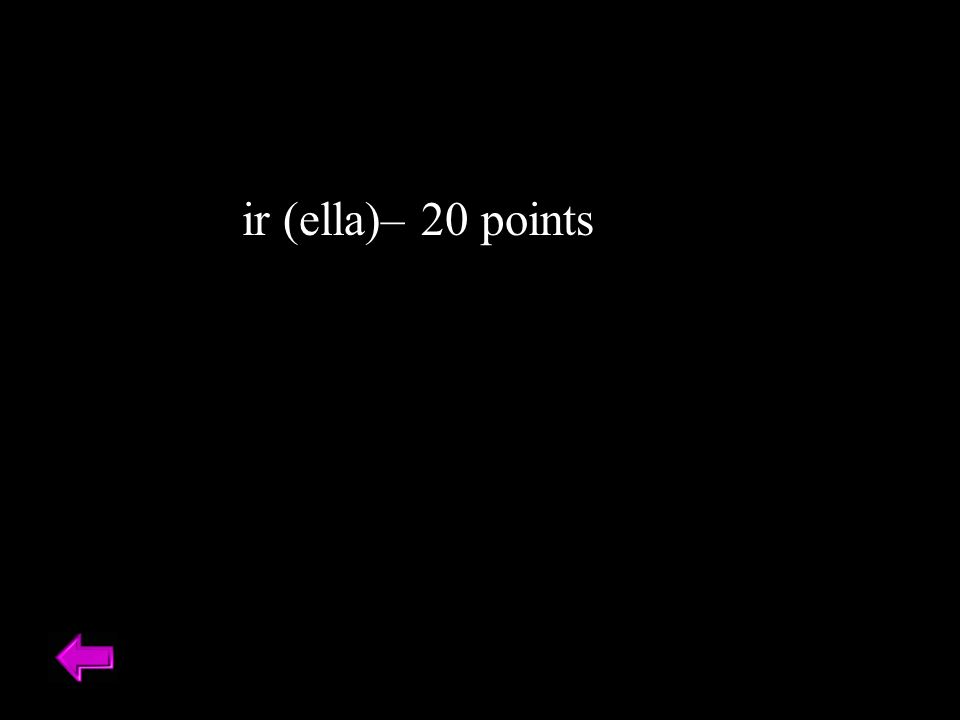 ir (ella)– 20 points