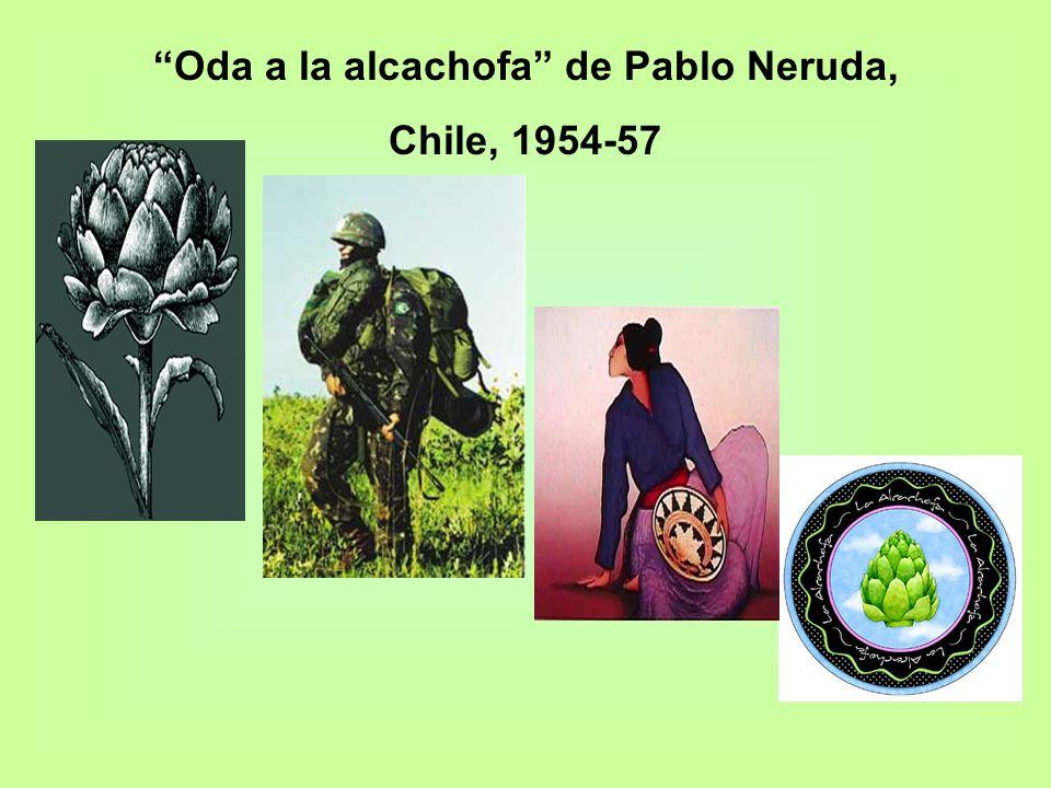Oda a la alcachofa de Pablo Neruda, Chile, 1954-57