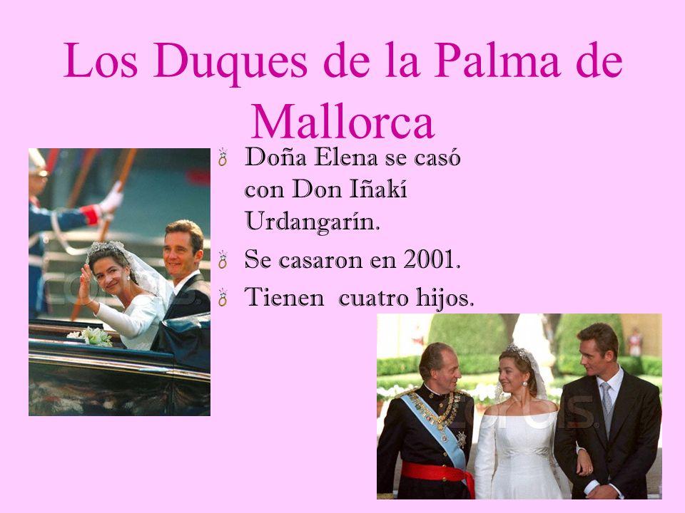 Los Duques de Lugo Doña Cristina se casó con Don Jaime Marichalar. Se casaron en 1995. Tienen dos hijos.